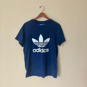 Adidas Navy Trefoil Logo T-Shirt